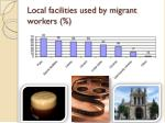local facilities used by migrant workers