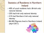 statistics of residents in northern ireland
