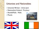unionists and nationalists