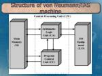 structure of von neumann ias machine