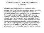 teaching activities aids and supporting materials1