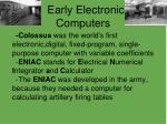 early electronic computers
