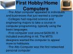 first hobby home computers