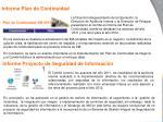 informe plan de continuidad