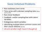 some unsolved problems