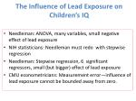 the influence of lead exposure on children s iq