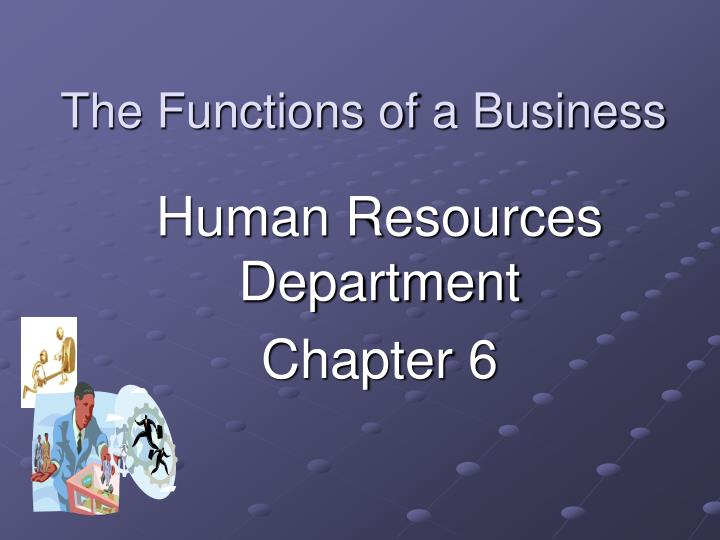 the functions of a business n.