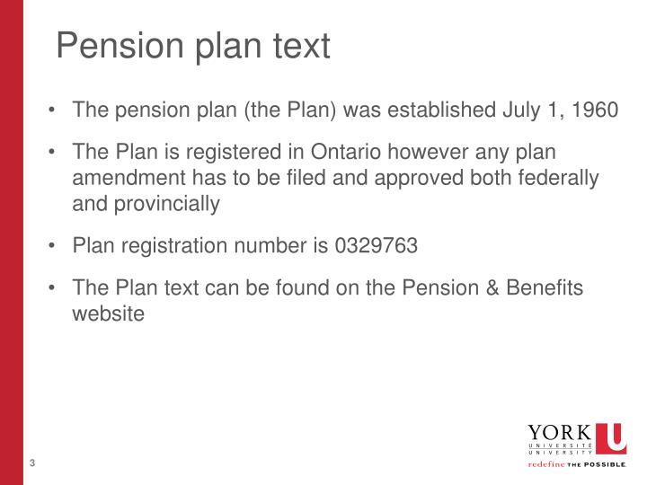 Pension plan text