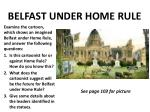 belfast under home rule