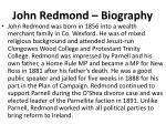 john redmond biography