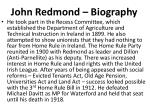 john redmond biography1