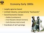 economy early 1800s