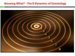 knowing what the 8 dynamics of scientology