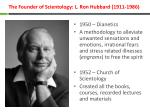 the founder of scientology l ron hubbard 1911 1986