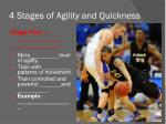 4 stages of agility and quickness4
