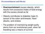 overnourishment and obesity