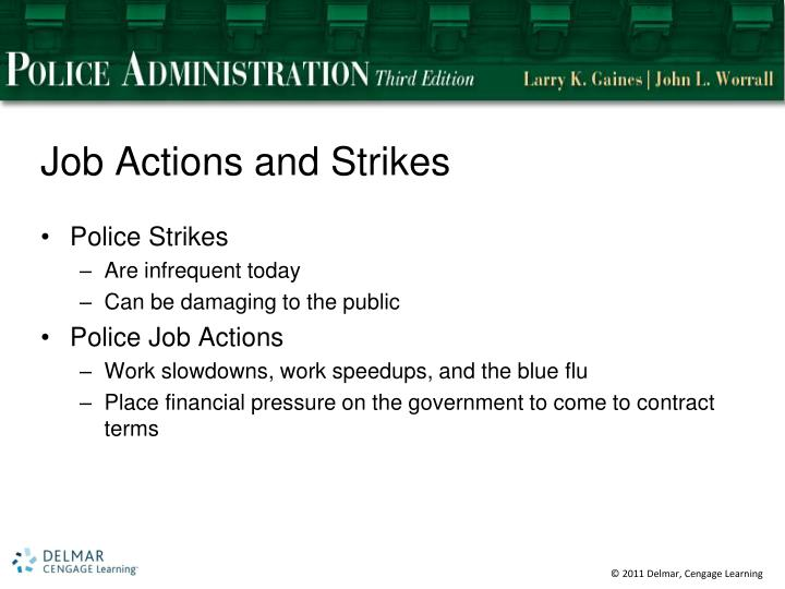 Job Actions and Strikes