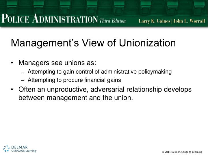 Management's View of Unionization