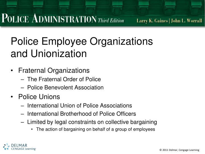 Police Employee Organizations