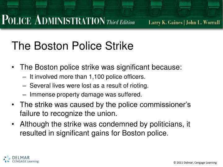 The Boston Police Strike