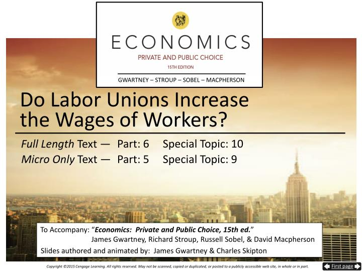 do labor unions increase the wages of workers n.