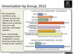 unionization by group 20121
