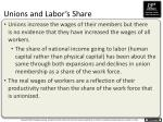 unions and labor s share