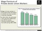 wage premium of private sector union workers