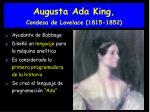 augusta ada king condesa de lovelace 1815 1852