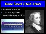 blaise pascal 1623 1662