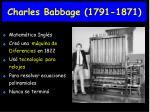 charles babbage 1791 1871