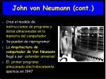 john von neumann cont
