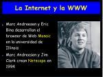 la internet y la www