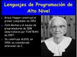 lenguajes de programaci n de alto nivel