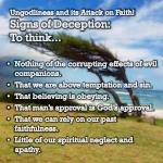 ungodliness and its attack on faith signs of deception to think