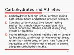 carbohydrates and athletes
