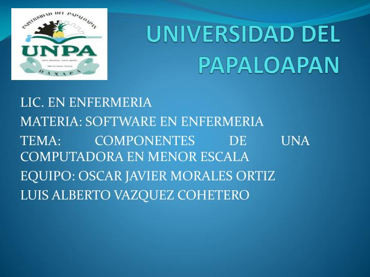 universidad del papaloapan n.