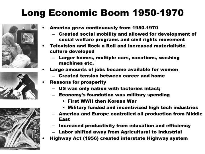 Long Economic Boom 1950-1970