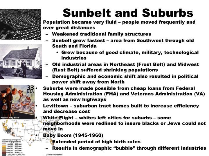 Sunbelt and Suburbs