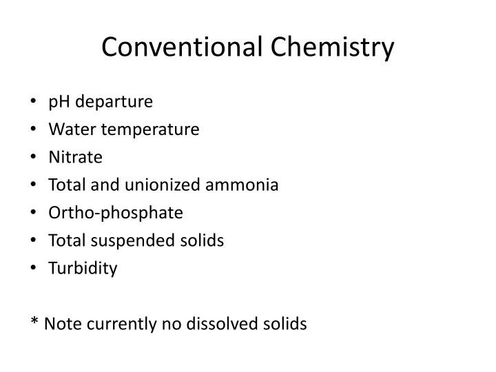 Conventional Chemistry
