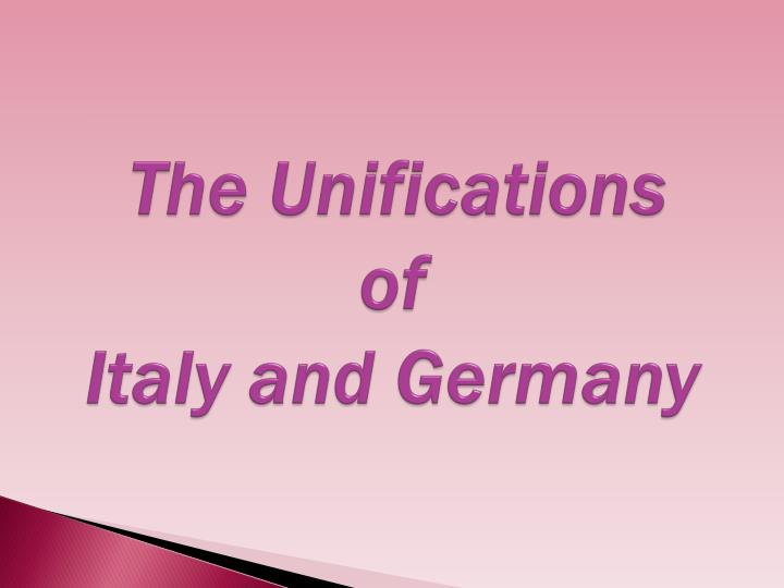 the unifications of italy and germany n.