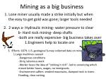 mining as a big business
