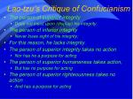 lao tzu s critique of confucianism
