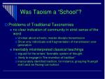was taoism a school