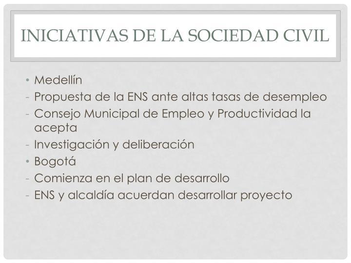 Iniciativas de la sociedad civil