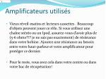amplificateurs utilis s
