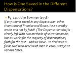how is one saved in the different dispensations1