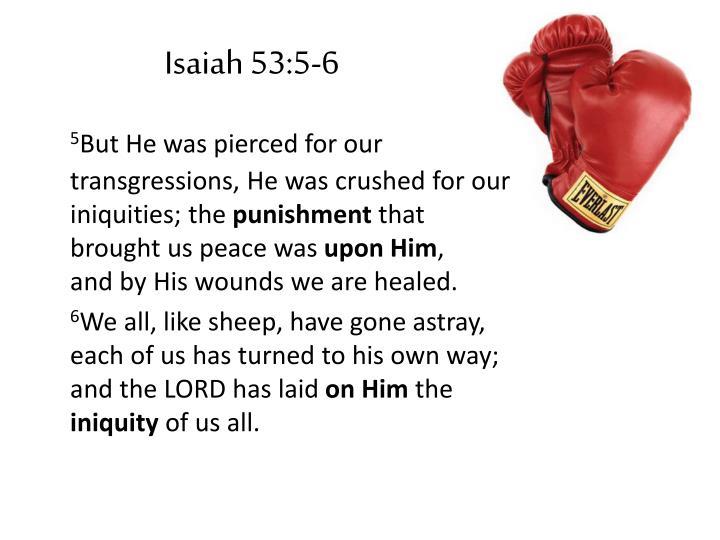 Isaiah 53:5-6