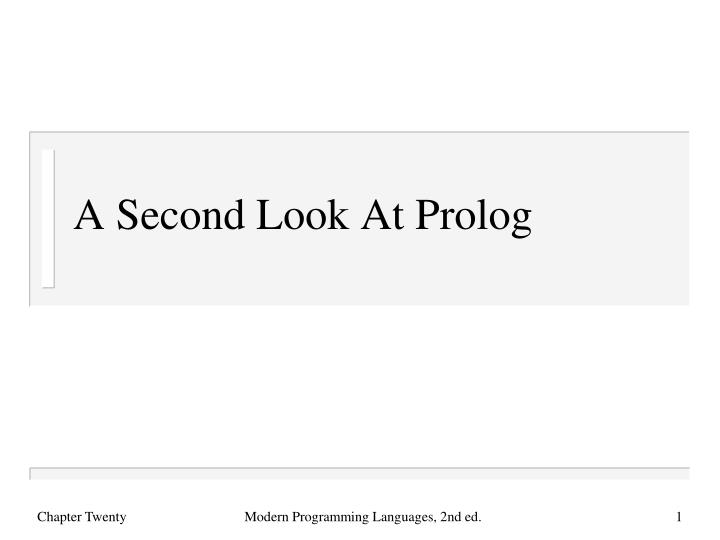 a second look at prolog n.
