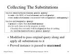 collecting the substitutions
